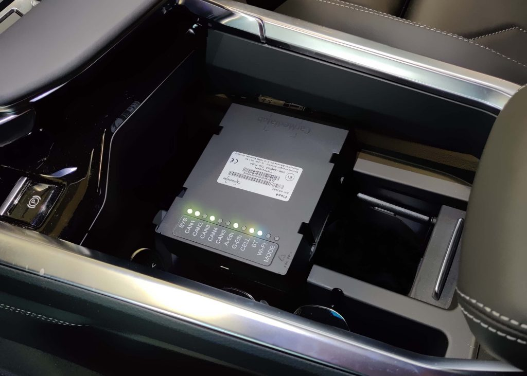 Flea 4 datalogger, installed in vehicle, remote data acquisition